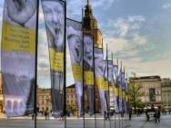 51st KFF flags, Krakow's Market Square