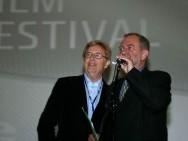 Jerzy Śladkowski, reżyser 'Dwóch Rembrandtów...' i Krzysztof Gierat