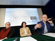A. Marek Drążewski (przewodniczący Sekcji Filmu Dokumentalnego SFP), Barbara Orlicz-Szczypuła (dyrektor Biura Programowego KFF), Krzysztof Gierat (Dyrektor KFF)