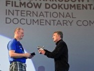 The Silver Horn Award: Ewan MacKinnon (the protagonist of the film, 'The Kid and The Clow') and Luciano Barisonen