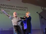 The Golden Horn Award: Peter Gerdehag ('Woman with Cows') with Agnieszka Odorowicz and Jacek Bławut