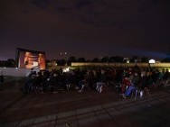 Open-air cinema / photo. J. Roj