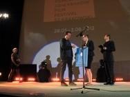 Piotr Wojtowicz (PSC), Justyna Juszczyk (ORKA Studio) i Wojciech Staroń- the winner