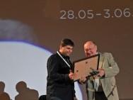 Piotr Furmankiewicz (Fumi Studio, the producer of the film 'Lumberjack') and Włodzimierz Niderhaus (KIPA)
