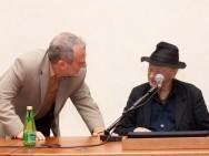 Jonas Mekas' press conference- Krzysztof Gierat, Jonas Mekas