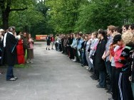 Studenci jednodniowej szkoły filmowej, fot. T. Korczyński