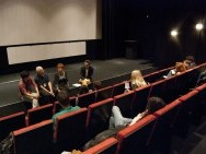 Q&A; reżyser Artykpai Suiundukov, prowadzący spotkanie Samuel Nowak / fot. Agnieszka Martyka, kimbbNE