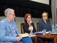 Krzysztof Gierat (Dyrektor KFF), Barbara Orlicz-Szczypuła (Dyrektor Biura Programowego KFF), Katarzyna Wilk (Koordynator Industry Zone)