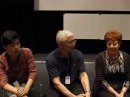 Q&A, w środku reżyser Artykpai Suiundukov (Nomadowie) / fot. Agnieszka Martyka, kimbbNE