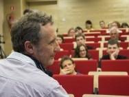 Docs+Science - spotkanie z Frankiem Cuvelierem / fot. K. Wałek