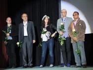 Jury FIPRESCI, from the left: Mirosław Przylipiak, Giovanni Ottone, Katia Bayer and Jury FICC: Szymon Stemplewski, Sankar Kumar Pal