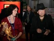 Jonas Mekas and Barbara Orlicz-Szczypuła